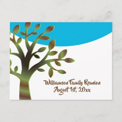 Family Tree Family Reunion Picnic Gathering Invite