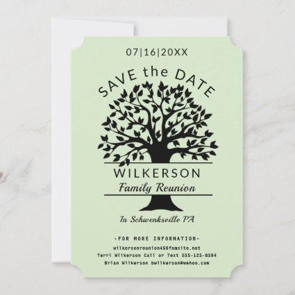 Family Tree Logo Genealogy Family Reunion Save The Date