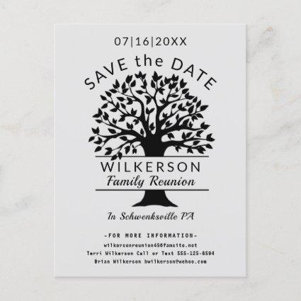 Family Tree Logo Reunion Genealogy Save the Date Announcement