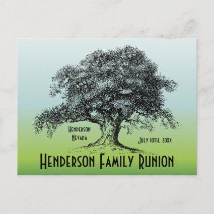Family Tree Vintage Reunion Gathering Announcement