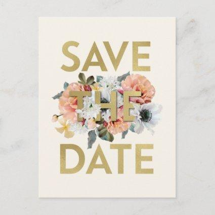 Fancy Flowers Save the Date Post