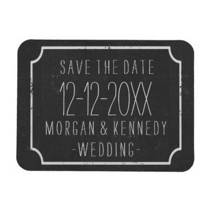Faux Chalkboard Save the Date Wedding Magnets