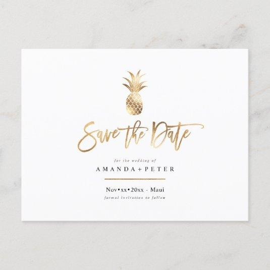 Faux Gold Pineapple s