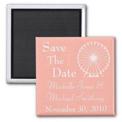 Ferris Wheel Save The Date Magnets (Peach)