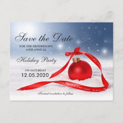 Festive Christmas And Holiday Party Save The Date Announcements Cards