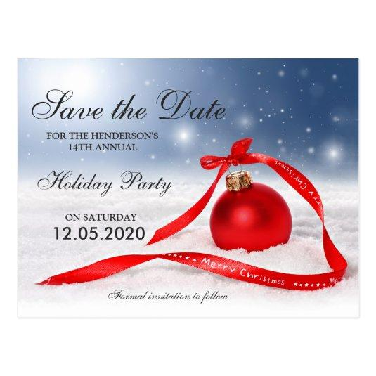 Christmas Party Save The Date Cards.Festive Christmas And Holiday Party Save The Date Cards