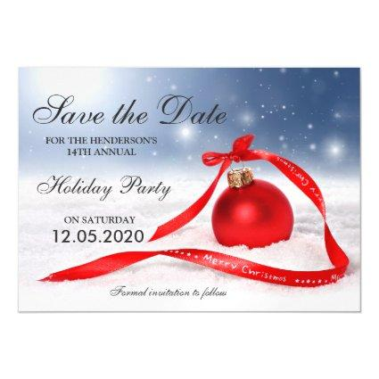 Corporate Christmas Party Save The Date Cards – Save the Date Cards