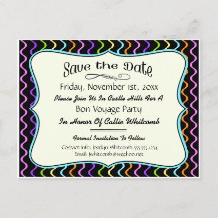Festive Party, Reunion or Event Save the Date Announcement