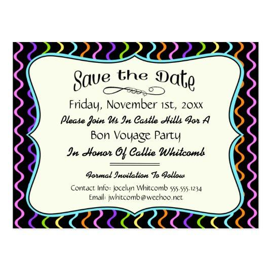 Festive Party, Reunion or Event Save the Date Cards