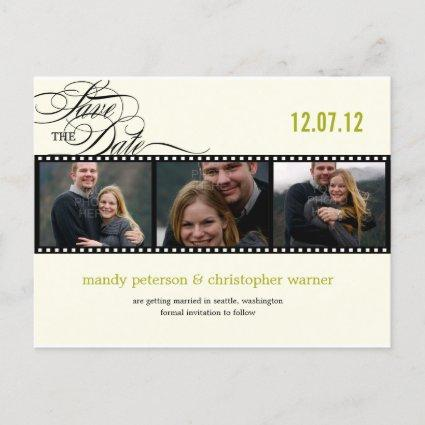Film Strip Photo Save The Date Announcements Cards