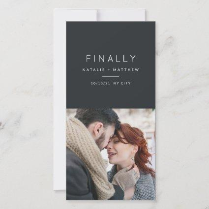 Finally, save the date photo announcement