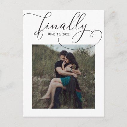 Finally Save the Date Photo Announcement