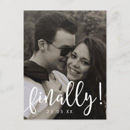 Finally Script Font Overlay Save the Date Cards