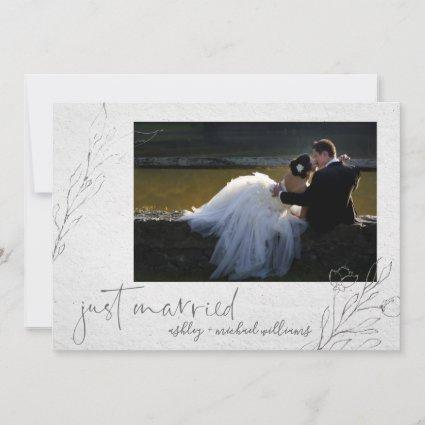 Fine Art Typography | Photo Wedding Announcement