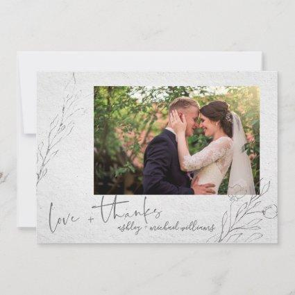 Fine Art Typography | Photo Wedding Thank You Card