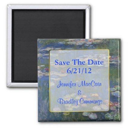 Fine Art Water Lilies Wedding Save the Date Magnet