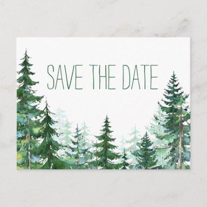 Fir Tree Wedding Save the Date Announcement