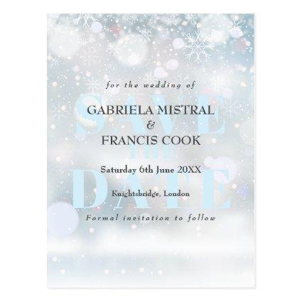 First Snowflakes Save the Date Card