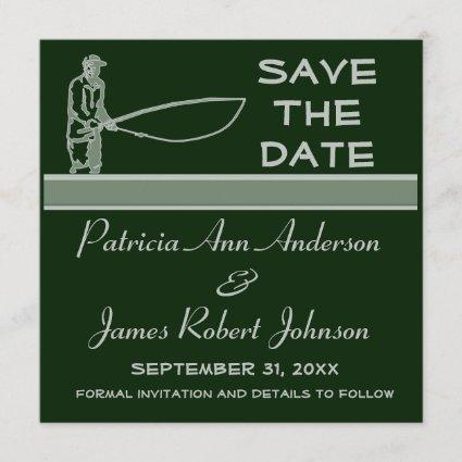 Fishing Save The Date Wedding Announcement