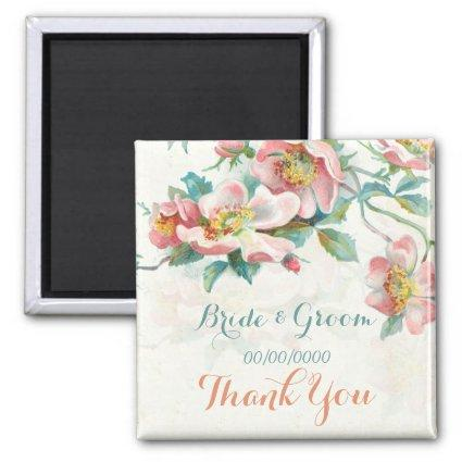 Floral favors,thank you gift or save the date magnet