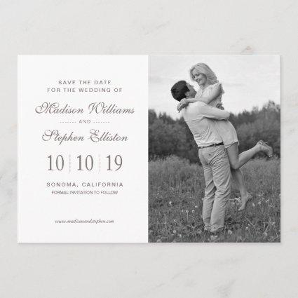 Floral Watercolor   White Anemone - Save the Date