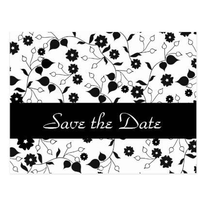 Floral Wedding Save the Date Announcements Cards