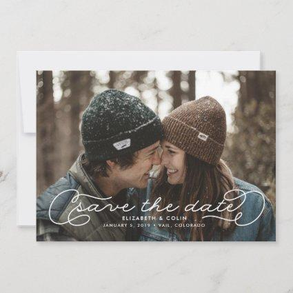 Flourished Save the Date Card