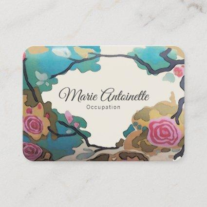 Flowers in Watercolors PAPER & SIZE OPTIONS -Large Business Card