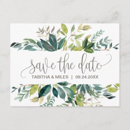 Foliage Save the Date Announcement