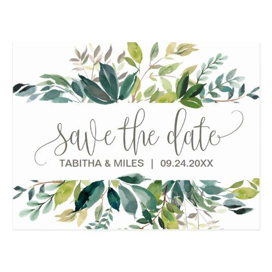 Foliage Save the Date Cards
