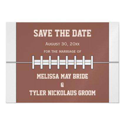 Football Ball Sports Wedding Save The Date Magnetic Invitation