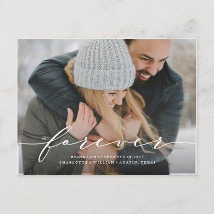 Forever Begins Save the Date Photo Cards