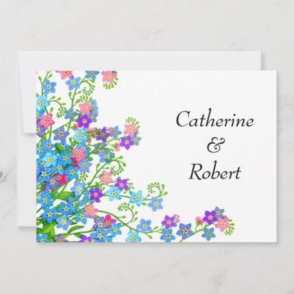 Forget Me Nots Garden Save the Date Invites