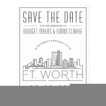 Fort Wort Wedding | Stylized Skyline