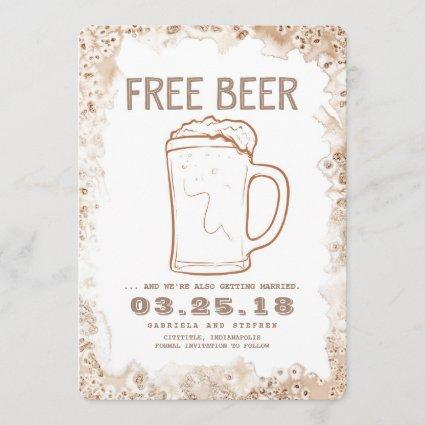 Free Beer | Rustic Funny Save the Date