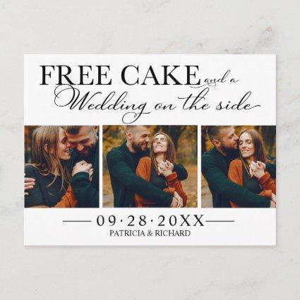 Free Cake Funny Wedding Save The Date 3 Photo