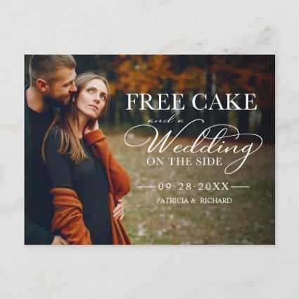 Free Cake Funny Wedding Save The Date Full Photo