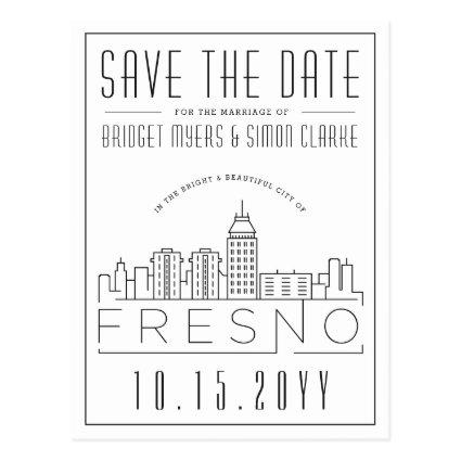 Fresno Wedding | Stylized Skyline