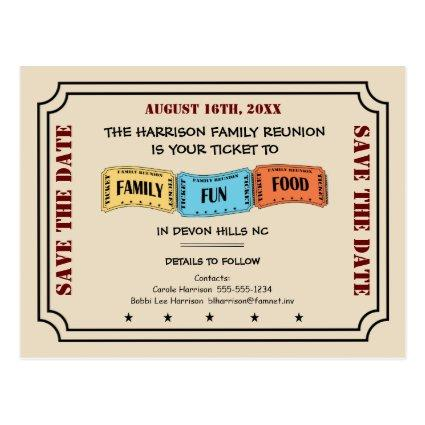 Fun Family Reunion Ticket to