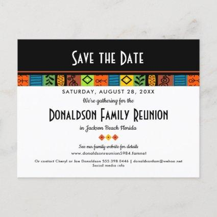 Fun Festive Family Reunion or Party Save the Date Announcement