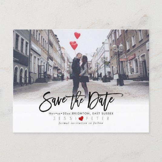 Fun Modern Brush Script Save the Date Announcement