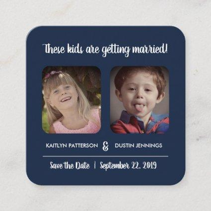 """Fun """"These Kids"""" Photo Save The Date Enclosure Card"""