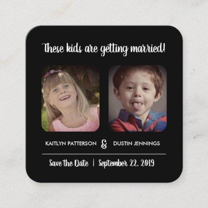 "Fun ""These Kids"" Photo Save The Date Enclosure Card"