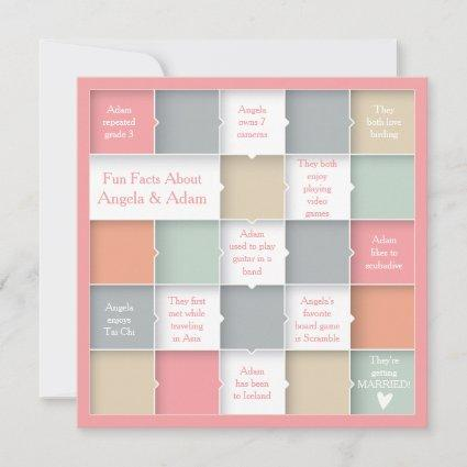 Fun Whimsical Infographic Photo Save the Date