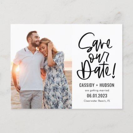 Funky Writing EDITABLE COLOR Save Our Date