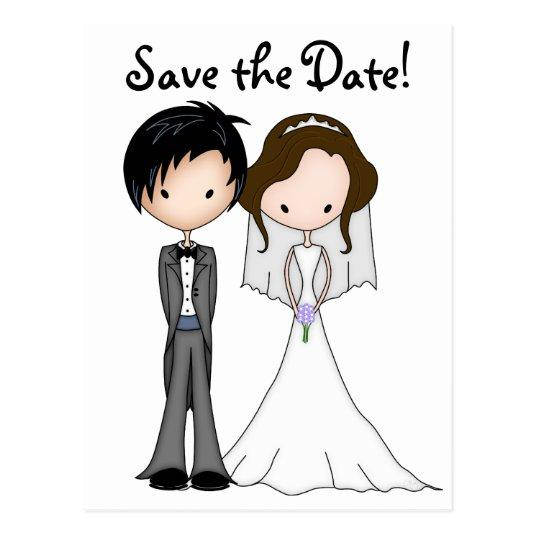 1 10 Funny Bride And Groom Cartoon Save The Date Cards