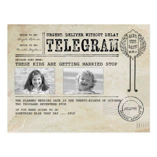 Funny Childhood Photos | Save the Date Telegram