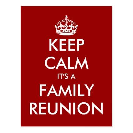 Funny keep calm family reunion Cards