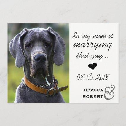 Funny Pet Dog Save The Date Cards