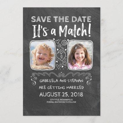 Funny Photo Save the Date - It's a Match